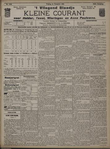 Vliegend blaadje : nieuws- en advertentiebode voor Den Helder 1908-12-25
