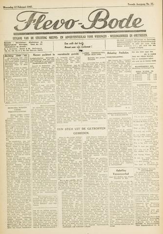 Flevo-bode: nieuwsblad voor Wieringen-Wieringermeer 1947-02-12