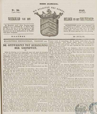 Weekblad van Den Helder en het Nieuwediep 1848-07-17