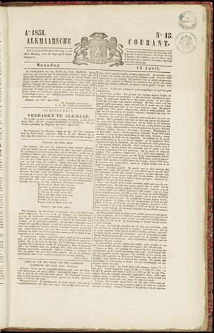 Alkmaarsche Courant 1851-04-14