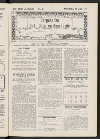Bergensche bad-, duin- en boschbode 1922-07-29