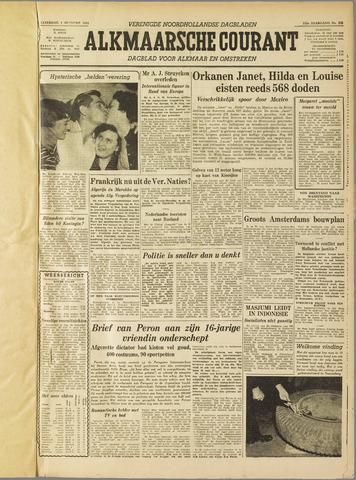 Alkmaarsche Courant 1955-10-01