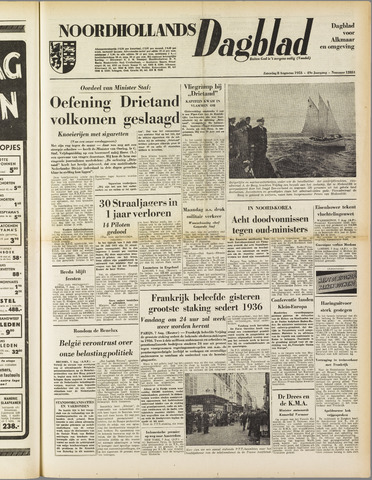 Noordhollands Dagblad : dagblad voor Alkmaar en omgeving 1953-08-08