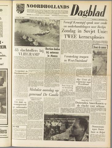 Noordhollands Dagblad : dagblad voor Alkmaar en omgeving 1961-09-11