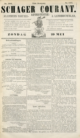 Schager Courant 1881-05-29