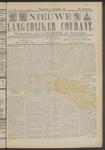 Nieuwe Langedijker Courant 1921-08-11
