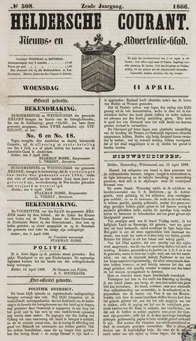 Heldersche Courant 1866-04-11