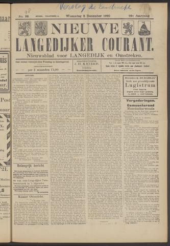 Nieuwe Langedijker Courant 1920-12-08