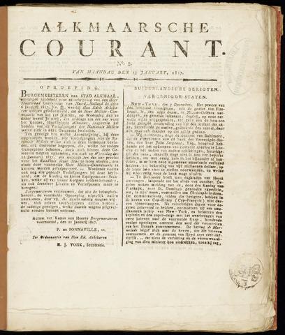 Alkmaarsche Courant 1817-01-13