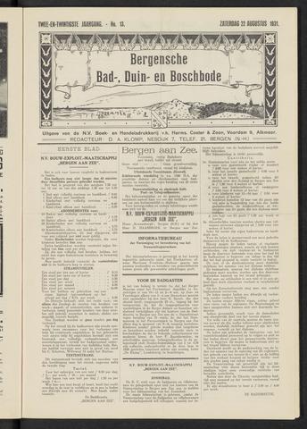 Bergensche bad-, duin- en boschbode 1931-08-22