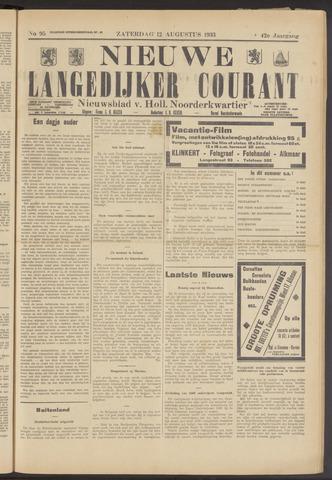 Nieuwe Langedijker Courant 1933-08-12