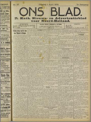 Ons Blad : katholiek nieuwsblad voor N-H 1913-04-01