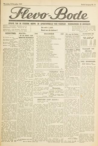 Flevo-bode: nieuwsblad voor Wieringen-Wieringermeer 1947-12-24