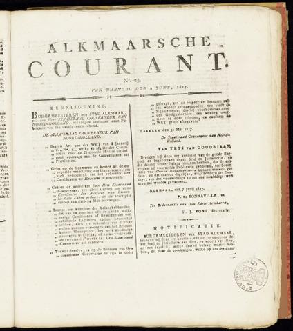 Alkmaarsche Courant 1817-06-09