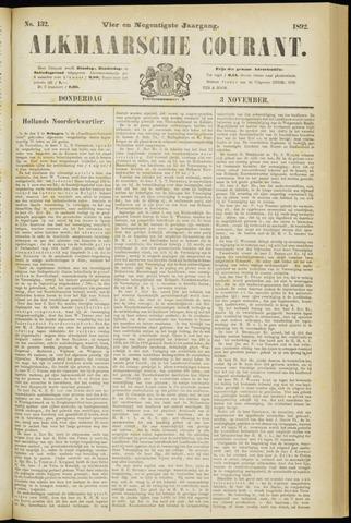 Alkmaarsche Courant 1892-11-03
