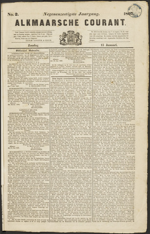 Alkmaarsche Courant 1867-01-13