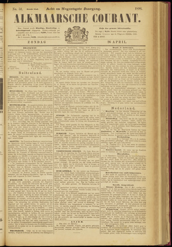 Alkmaarsche Courant 1896-04-26