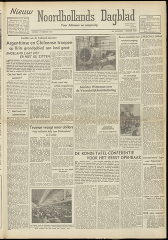 Nieuw Noordhollandsch Dagblad : voor Alkmaar en omgeving 1948-02-17