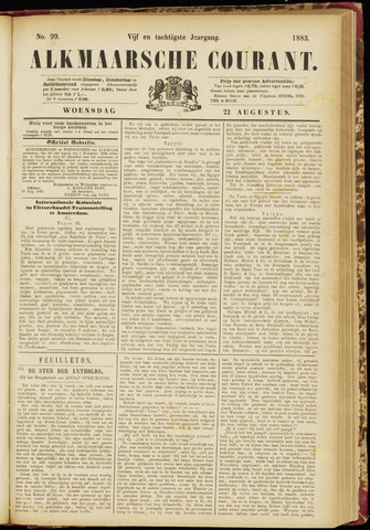 Alkmaarsche Courant 1883-08-22