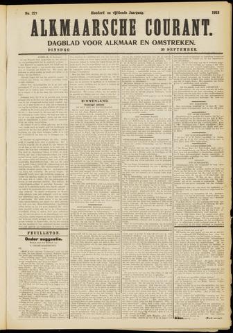 Alkmaarsche Courant 1913-09-30