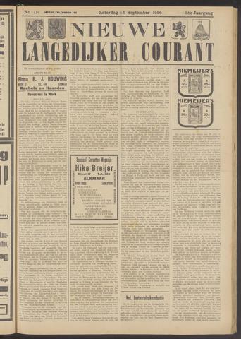 Nieuwe Langedijker Courant 1926-09-25