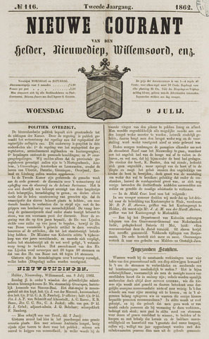 Nieuwe Courant van Den Helder 1862-07-09
