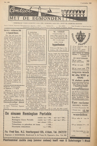 Contact met de Egmonden 1961-11-02