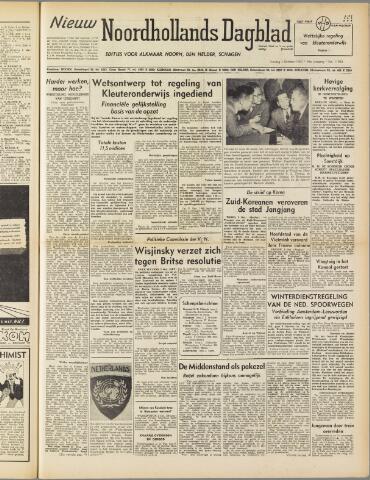 Nieuw Noordhollandsch Dagblad : voor Alkmaar en omgeving 1950-10-03