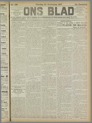 Ons Blad : katholiek nieuwsblad voor N-H 1917-11-20