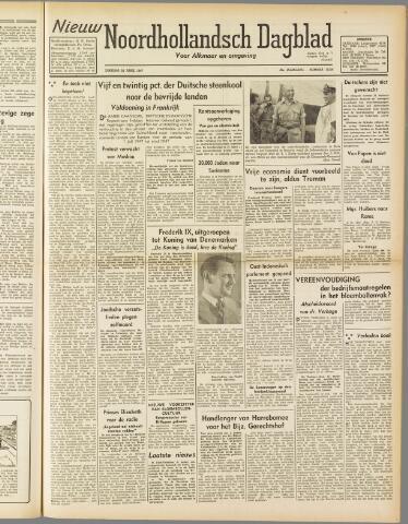 Nieuw Noordhollandsch Dagblad : voor Alkmaar en omgeving 1947-04-22