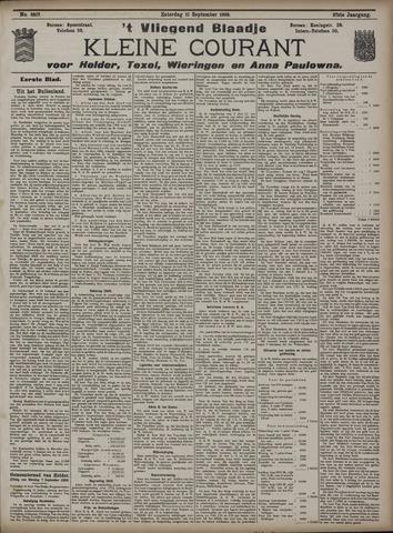 Vliegend blaadje : nieuws- en advertentiebode voor Den Helder 1909-09-11