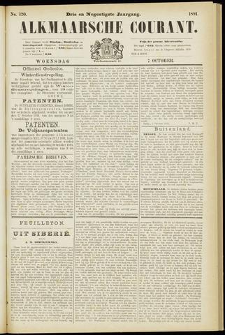 Alkmaarsche Courant 1891-10-07