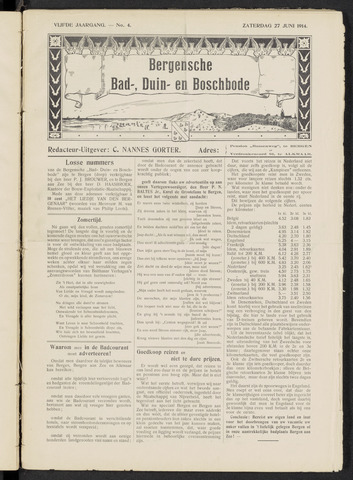 Bergensche bad-, duin- en boschbode 1914-06-27