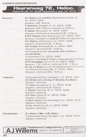 Adresboek van Castricum/Bakkum 1986-01-02