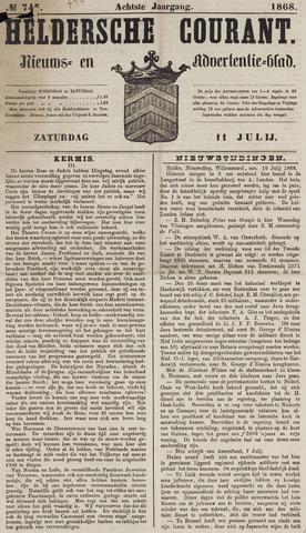 Heldersche Courant 1868-07-11