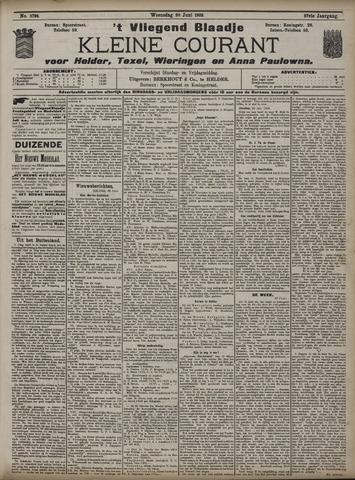 Vliegend blaadje : nieuws- en advertentiebode voor Den Helder 1909-06-30