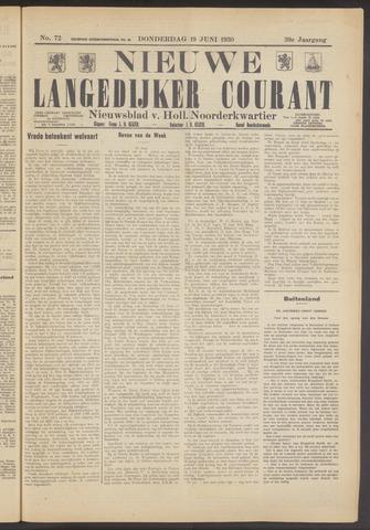 Nieuwe Langedijker Courant 1930-06-19