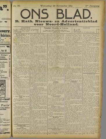 Ons Blad : katholiek nieuwsblad voor N-H 1911-11-29