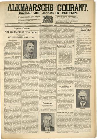 Alkmaarsche Courant 1934-09-25