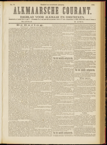 Alkmaarsche Courant 1915-04-12