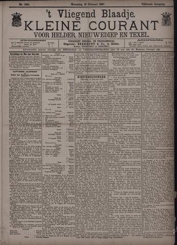 Vliegend blaadje : nieuws- en advertentiebode voor Den Helder 1887-02-16