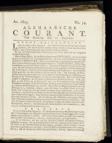 Alkmaarsche Courant 1805-08-26