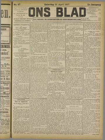 Ons Blad : katholiek nieuwsblad voor N-H 1917-04-21