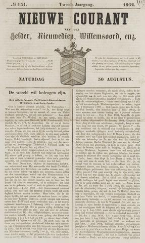 Nieuwe Courant van Den Helder 1862-08-30