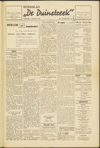 De Duinstreek 1947-03-07
