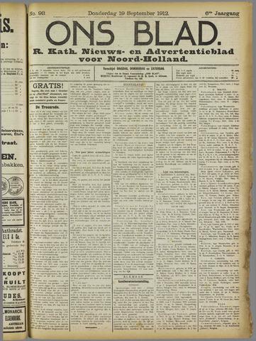 Ons Blad : katholiek nieuwsblad voor N-H 1912-09-19