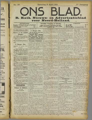 Ons Blad : katholiek nieuwsblad voor N-H 1911-04-08