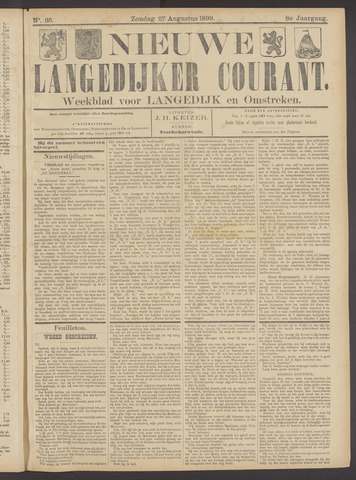 Nieuwe Langedijker Courant 1899-08-27