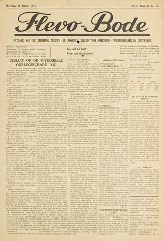 Flevo-bode: nieuwsblad voor Wieringen-Wieringermeer 1946-01-16