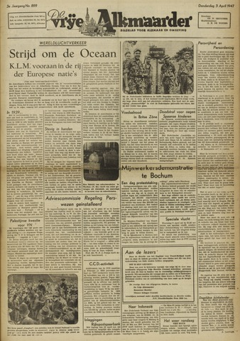 De Vrije Alkmaarder 1947-04-03